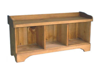 Springwater Woodcraft 3 Cube Cubby Bench made from sustainable pine