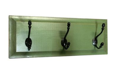 3-Hook Panel Coat Rack
