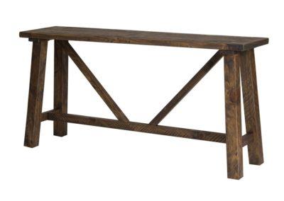 Alfresco Smokey Brown Hall Table