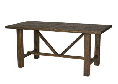 Alfresco Smokey brown Harvest table