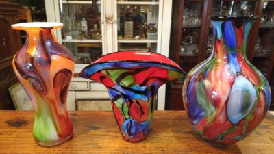 Assorted Blown Glass Art Glass Vases