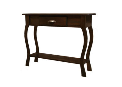 Pine Springwater Woodcraft Foyer Table with 1 centred drawer with a metal handle