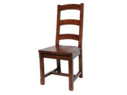 LH Import reclaimed wood Irish Coast African Dusk Ladder Back Chair by PGT, with a rich hand finish
