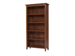 LH Import reclaimed wood Irish Coast African Dusk Large Bookcase by PGT, 5 shelves with a rich finish