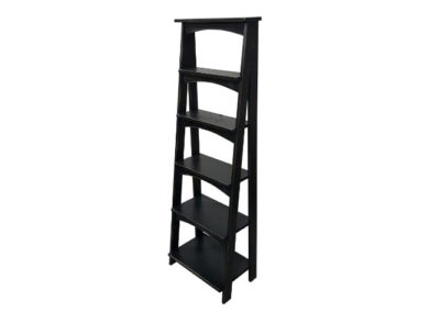 Pine Springwater Woodcraft Vintage Black Ladder Shelf