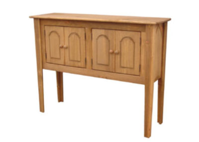 Pine Springwater Woodcraft Tall Sideboard with 2 double door cabinets