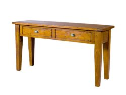 LH Import reclaimed wood Irish Coast African Dusk Hall Table by PGT, 2 drawers and a rich finish