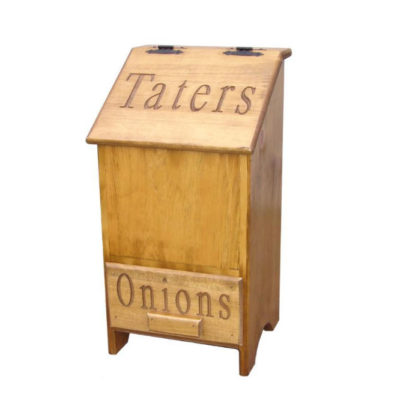 Springwater Woodcraft Potato and Onion Bin made from sustainable pine