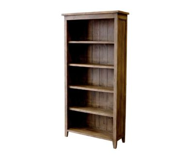 LH Import reclaimed wood Irish Coast Sundried Large Bookcase by PGT, 5 shelves with a sundried finish