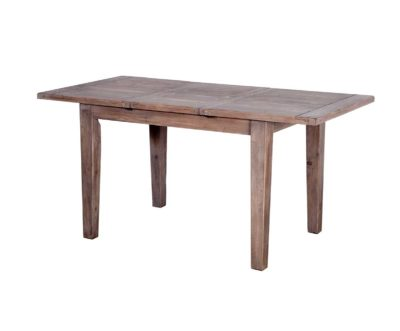 LH Import reclaimed wood Irish Coast Sundried Dining Table by PGT with foldable centre extension leaf
