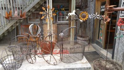 Assorted Fun And Funky Outdoor Items made from metal