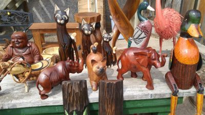 Assorted Carved Wood Animals