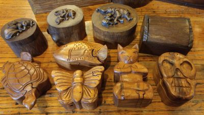 Assorted Wood Trinket Boxes