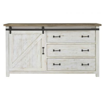 Reclaimed wood Provence 1 Door Dresser by LH Imports with 3 large drawers