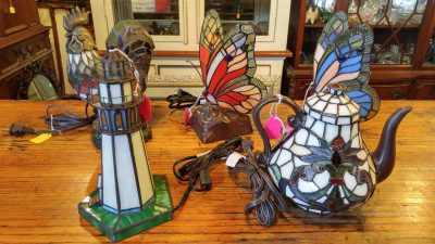 Assorted Stain Glass Animal Figurine Lamps