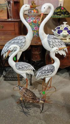 Outdoor Large Metal Storks
