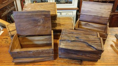 Rustic wooden Treasure Boxes
