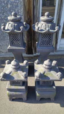 4 Pagoda Lanterns, 2 small and 2 large