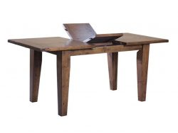 LH Import reclaimed wood Irish Coast African Dusk Extension Dining Table by PGT with foldable centre extension leaf