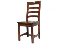 LH Import reclaimed wood Irish Coast African Dusk Ladder Back Chair With Handle by PGT, with a rich hand finish